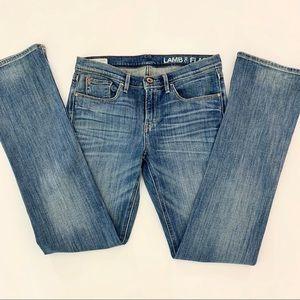 Lamb & Flag Jeans Low Rise Slim Size 28X33 8R